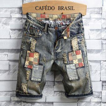 Tallas Grandes Pantalones Rotos Cortos Para Hombres Parche Jeans Desgastado Linio Chile Ge657fa1mm4melacl