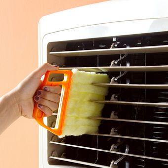 Microfibra ventana de Triple Venetian Blind Cleaner Cepillo Plumero hogar cocina oficina