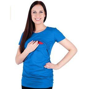 8868d986f Camiseta De Lactancia Femenina Multicolor Color Sólido