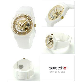 Reloj swatch para mujer dorado