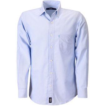 Camisa Hombre Manga Larga Oxford Hombre Uniforme Empresarial Ejecutivo  Oficina Color-Cielo 365711190cdfc