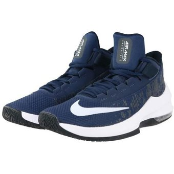 Tenis Basketball Hombre Nike Air Max Infuriate 2 Mid Azul con Blanco