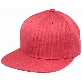 da45ac639713f Compra Gorra SnapBack Lisa De Visera Plana Color Rojo online