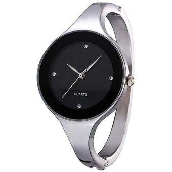 e97e036e6663 Pulsera De Acero Inoxidable Reloj De Pulsera De Cuarzo Analógico Para Mujer- negro