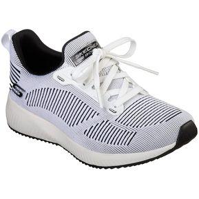 087990f4245c6 Zapatillas Para Mujer Skechers Bobs Squad 31360 BKW Blanco