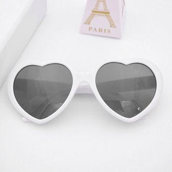 8f67b32c6c Moda Gafas de sol con forma de Corazón adorable UV400 Sun Espejo Adultos  Niños cristal Gafas