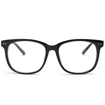 e1e9264041 Agotado Moda Las Lentes ópticas Hipster Gafas Grande Cuadrado Los Anteojos  Marco Miopía -Negro