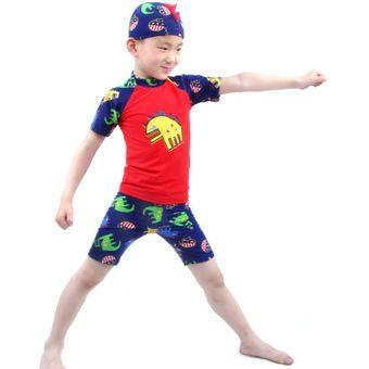 Compra Traje De Baño Para Niño 2 Año - 10 Años (Rojo) online  8526733c409