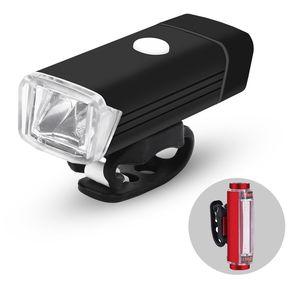 bd2aa23e6f8b6 Luz de la bicicleta del LED Set USB Recargable de bicicletas de luz  Delantera y luz