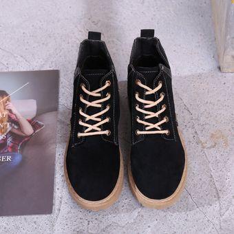 9c2ef9ce Compra Botas cortas de gamuza casual de cuero negras online | Linio ...