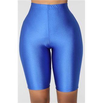 Pantalones Cortos Deportivos Elasticos Para Mujer Mallas De Licra Para Entrenamiento Solido Ropa De Calle De Color Solido Hasta La Rodilla Ropa De Mujer E Linio Peru Un055fa0bdftnlpe