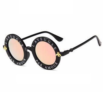 5309ad1e14 Bastidor Redondo Gafas De Sol Mujeres Hombres Español Letras Impresas PC  Gafas