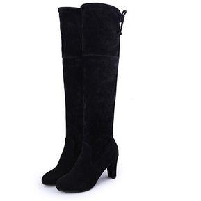 120276f0689 Zapatos Botas sobre las rodillas