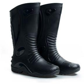 aec12a60a0f Botas de lluvia impermeables Dakar Motociclismo Unisex Idecal Negro