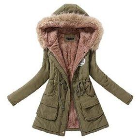 Abrigo Con Capucha Para Mujer-Verde 53d289b6643d