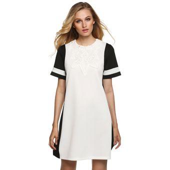 Vestido de guipur blanco