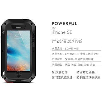7cc89c5bf25 Compra Estuche Carcasa Love Mei Para IPhone 5S IPhone SE - Negro ...