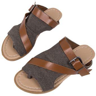 d13ab504e8a Zapatillas de Mujer de verano Open toe playa plana zapatos de moda  sandalias Slip-on