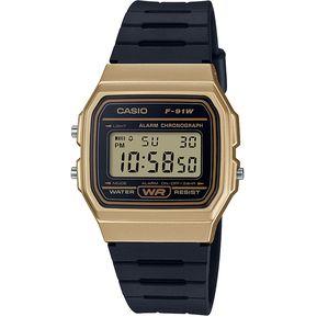 c9e1e7959b00 Reloj Casio Unisex Negro F-91WM-9ADF