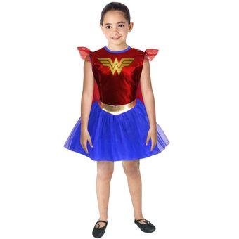 Compra Disfraz Mujer Maravilla Wonder Woman Niña Warner Fantasy Ruz ... 80fa8903d40
