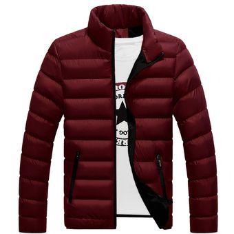 Compra Hombres Chaqueta Algodón Engrosada Soporte Sólido Collar Slim ... b226c70a5f460