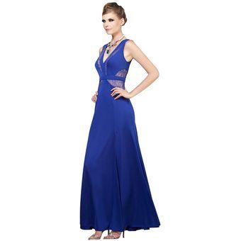Vestido De Noche Mussi 46843 Azul