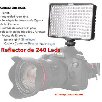 Reflector Luz Led Travor De 240 Para Camara Dsrl Video Filmadora Iluminacion Continua No Yongnuo Linio Perú Tr027el1kj834lpe