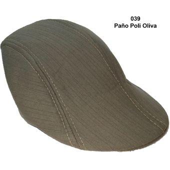 6f46ff40d939 Boina Inglesa Color Beret Unisex Gorro 039 Paño Poli Oliva