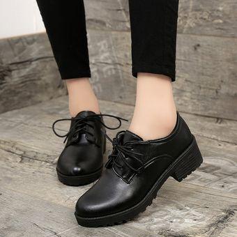 e450d22e7a Compra 2018 Mujeres De Primavera Estilo De Gran Bretaña Zapatos ...