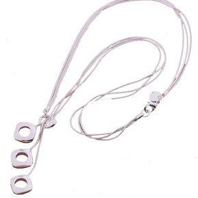 0199a4d72229 Collar Harmonie Accesorios Plata 925 Cadena Dijes Cuadros Circulos