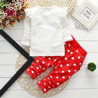 ce2a84fd4 EY Minnie Manchas Blancas Niñas Verano Algodón Camiseta Manga Corta  Pantalones Set-