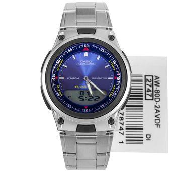 Hombre Illuminator Plateadoazul 80d Aw Reloj Casio 2a oxerdWCB