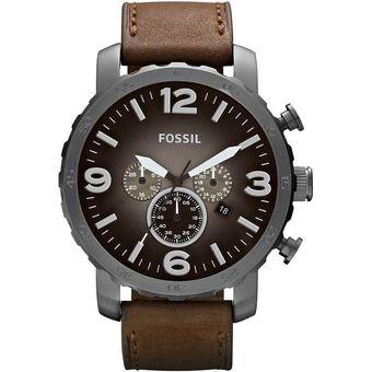 173c0c3f9503 Agotado Reloj Fossil Nate Cronógrafo JR1424 Correa De Cuero Analógico Hombre