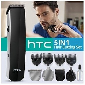 Maquina De Afeitar Y Peluqueria Recargable Kit HTC 5 En 1 AT-1201 43cd8e210ae6