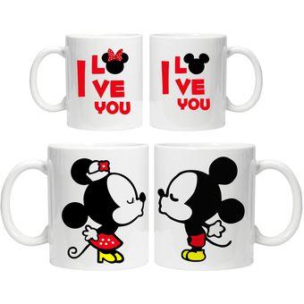 Compra pack 2 taza personalizada enamorados mickey y minnie pack 2 taza personalizada enamorados mickey y minnie blanco altavistaventures Choice Image