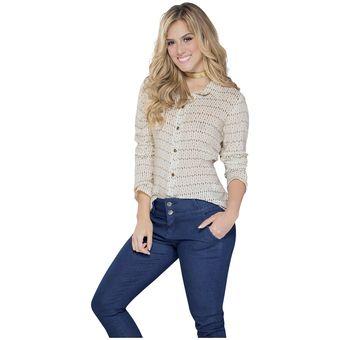 f8fb058f2 Agotado Camisa Juvenil Femenino Marketing Personal 56067 Marfil Estampado