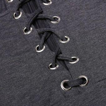 6503b591b1c Nueva Moda Mujer Casual Halter De Encaje Frontal Dobladillo Vestido -Negro