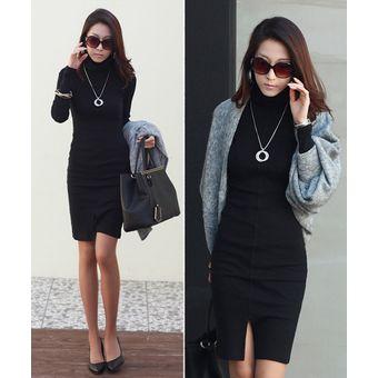 Vestidos negro tubo