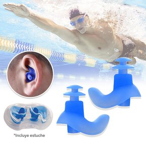 a8a0a15a Tapones Oídos Silicona Natación Piscina + Estuche RF 4557