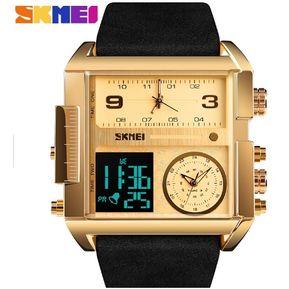 5c447e03956e Reloj SKMEI 1391 Acuatico  Analógico Digital - Dorado  correa negra