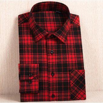 0d855d0384 Compra Camisas de manga larga de celosías Tailun-cool-Hombre-Rojo2 ...