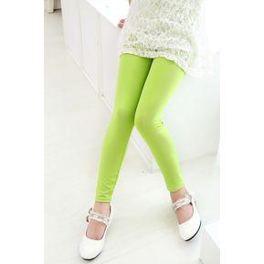E-Thinker Niños Nueve Polainas Chicas Pantalones Y Capris -Verde b4e609fa8705