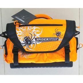 Bolsa Mochila Para Pescar Spiderwire SPA014 Con 4 Cajas Plastico 4bad5212aaaef