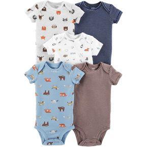 230dec5b4 Set De 5 Bodys Carters Para Bebé Niño