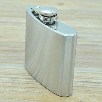 tama/ño 51,1 cl Petaca de acero inoxidable color plateado