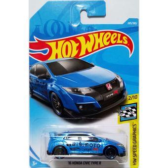 Auto Coleccionable Type Hot 16 Fjy33 Honda R Wheels Civic Multicolor rdtQsCh