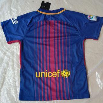 Conjunto De Camiseta Y Pantalones Corto De Fútbol Para Niños - Barcelona c449d6a08cf53