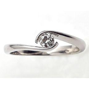 b3556fc379fe Anillo De Compromiso Solitario Diamond Desing Diamante Natural 10 Puntos  Con Montadura De Oro Blanco De
