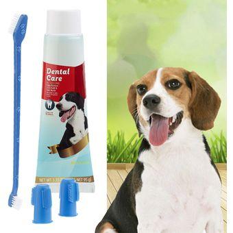 Agotado Kit Crema Dental + Cepillo De Dientes Limpia Encías Lengua Mascotas 0e58297663f3
