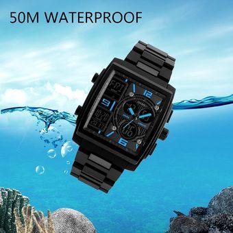 c5de499ce923 Compra Skmei Reloj Rectángulo Moda Militar Hombre Sport Sumergible ...